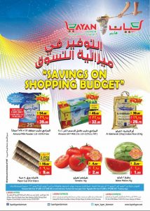 Layan Hyper Saving On Shopping Budget Promotion Leaflet Cover Page