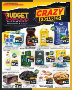 Budget Food Crazy Figures offers Leaflet Cover Page